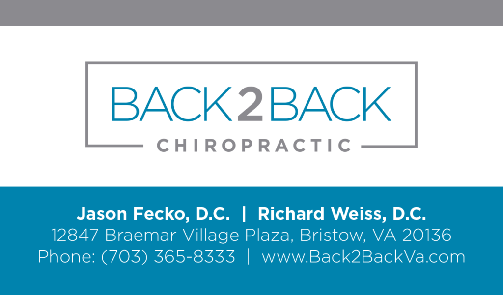 Back2Back Chiropractic Business Card