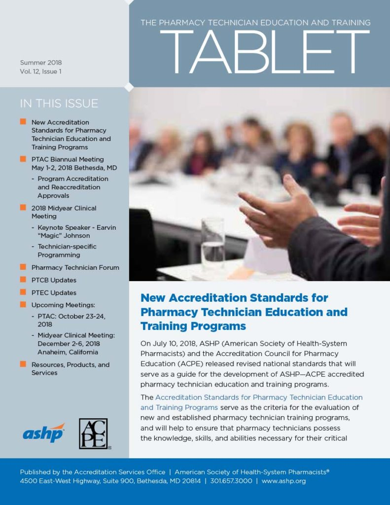 ASHP Tech Tablet Newsletter